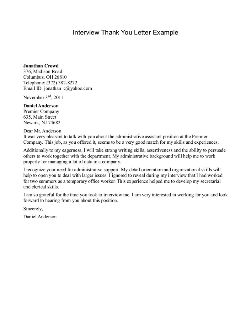 Thank you letter to recruiter peelland fm thank you letter to recruiter expocarfo