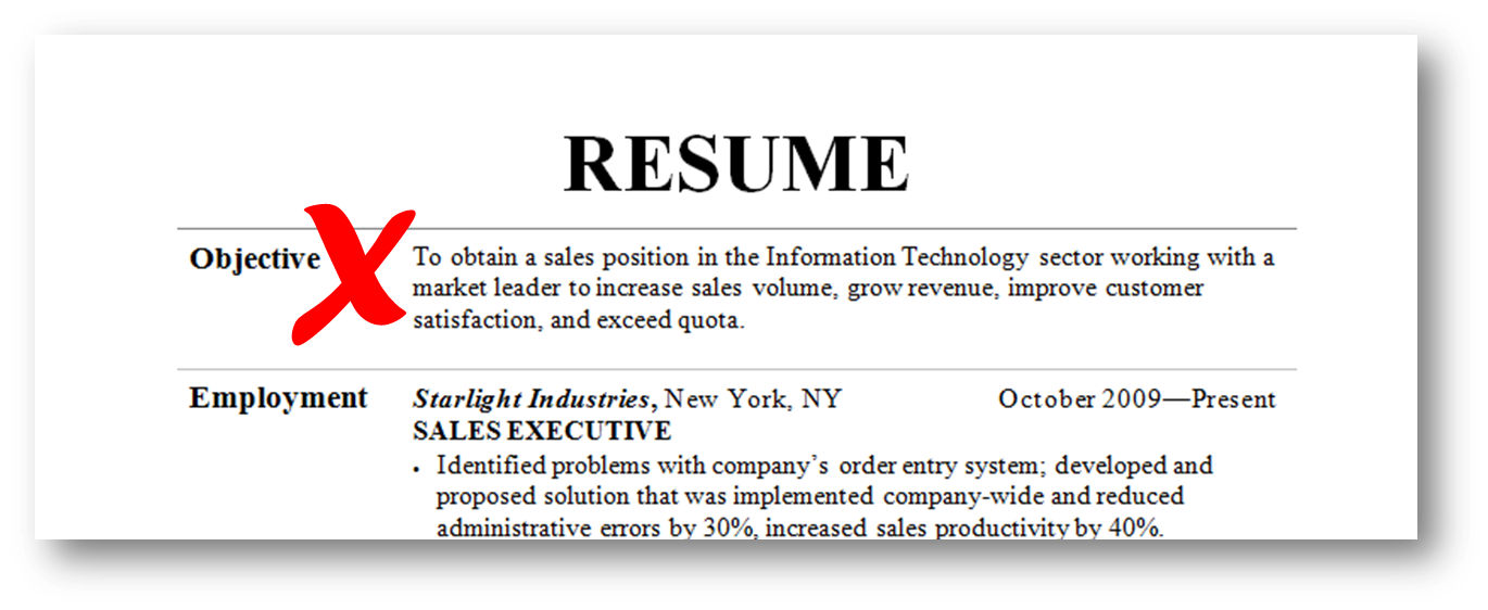 resume objective examples 2015 - Example Of Objective In Resume