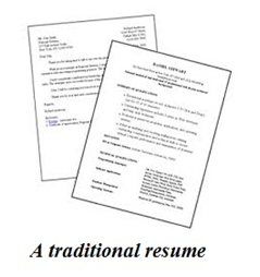 tradtional resume